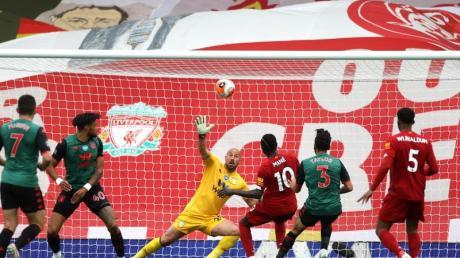 Sadio Mané (3.v.r) erzielte für den FC Liverpool das 1:0.