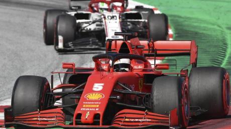 Fuhr mit Ferrari beim Saisonauftakt in Spielberg hinterher: Sebastian Vettel.