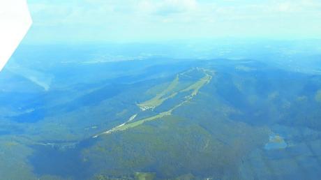 Auf dem Weg nach Tschechien passierten die Donauwörther Segelflieger unter anderem den Großen Arber im Bayrischen Wald.