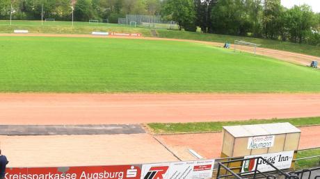 Leerer Rasen im Karl-Mögele-Stadion: Die Fußballer des TSV Göggingen wünschen sich mehr Trainingszeiten – auch in den kälteren Monaten.