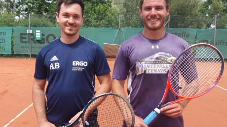 Erfolgreiches Doppel: Andreas Bauch (links) und Georg Trompler gewannen ihr Doppel deutlich. Mit den Herren I des SV Weichering setzten sie sich mit 8:1 gegen den SV Karlshuld durch.