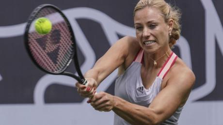 Hat noch keine Pläne für die Rückkehr auf die Tennis-Tour: Angelique Kerber bei einem Show-Kampf in Bad Homburg.