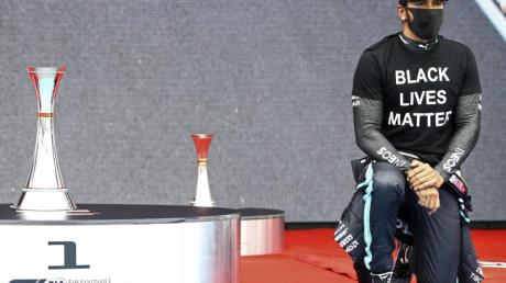 Zeigt klare Kante gegen Rassismuns: Formel-1-Weltmeister Lewis Hamilton.
