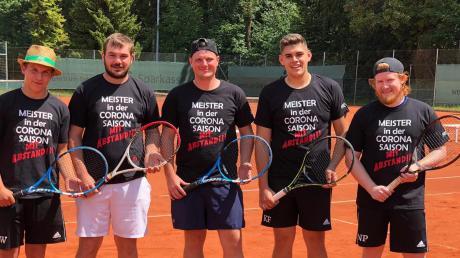 Die meisterlichen Herren II des SV Weichering: (Von links) Jonas Walter, Sebastian Huber, Michael Mandlmeier, Kevin Fürholzer, und Nik Paukstat.