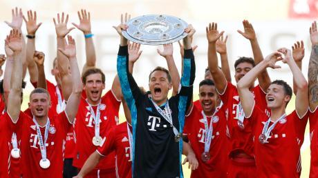 Hoch die Hände, Meisterfeier: Der FC Bayern stand im Juni zum achten Mal nacheinander an der Spitze der Bundesliga.