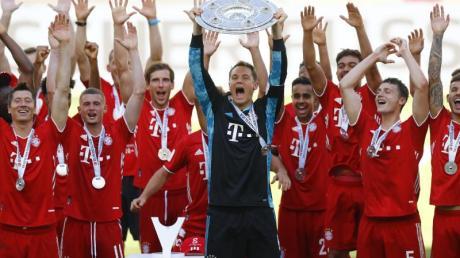 Holte sich zum achten Mal nacheinander die Meisterschaft in der Bundesliga: FC Bayern München.