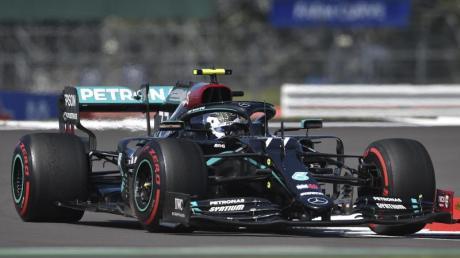 Fuhr im letzten Training in Silverstone Bestzeit: Valtteri Bottas im Mercedes.