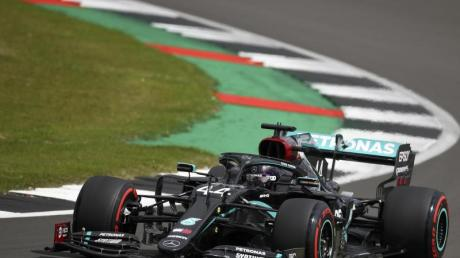 Lewis Hamilton stellte einen neuen Streckenrekord in Silverstone auf.