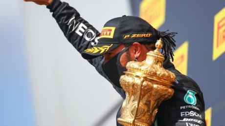 Lewis Hamilton gewann im Mercedes auch in Silverstone.