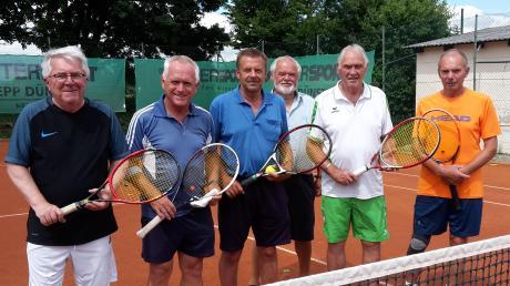 Das Burgheimer Team der Freizeit-Doppelrunde: (Von links) Peter Abspacher, Peter Specht, Franz Stegmeier, Herbert Steinherr, Wilfried Florian und Franz Hermann.