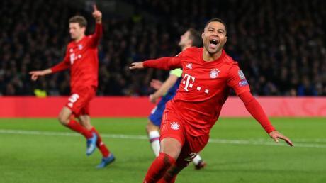 Bayerns Stürmer Serge Gnabry will auch gegen den FC Chelsea treffen.