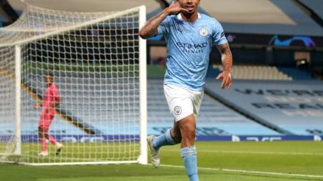 Gabriel Jesus von Manchester City feiert seinen Treffer zum 2:1 gegen Real Madrid.
