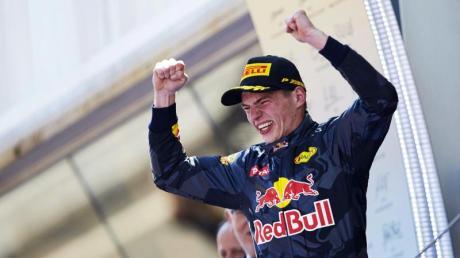 Hat ein gesegnetes Talent zum Rennfahren Der niederländische Formel-1-Pilot Max Verstappen.