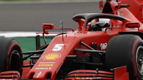 Hat wenig Grund zur Hoffnung auf einen Sieg in Spanien: Sebastian Vettel mit seinem Ferrari.