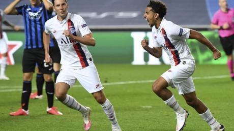 Marquinhos (r) drehte mit seinem Ausgleichstreffer das Spiel zu Gunsten von PSG.