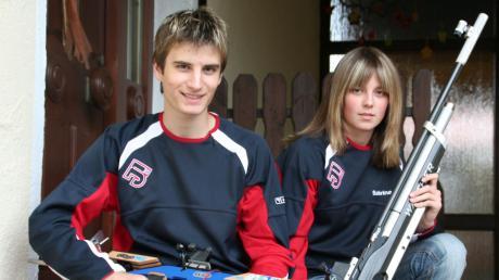 Vor rund 15 Jahren nahmen Christian Gerstmeier und Sabrina Rauh an der deutschen Meisterschaft der Sportschützen teil. Beide waren Stützen der Edelweiß-Mannschaft.