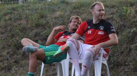 Torhüter Julian Baumann und  Torjäger Markus Gärtner kamen erst zur zweiten Halbzeit.
