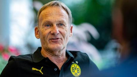 Geht fest vom Sancho-Verbleib in Dortmund aus: BVB-Boss Hans-Joachim Watzke:.