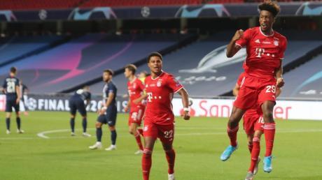 Der Treffer ins Glück: Kingsley Coman (rechts) von Bayern München feiert sein 1:0.