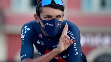 Geht als Titelverteidiger in die Tour de France:Egan Bernal aus Kolumbien vom Team Ineos.