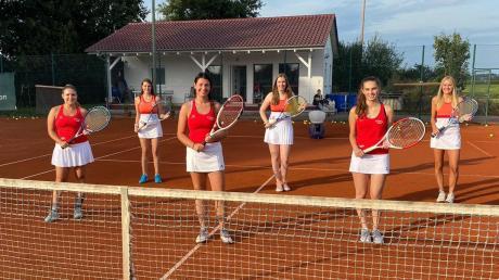 Hatte eine Saison mit viel Spaß am Tennis, die Damen-Mannschaft des SV Roggden. Von links: Jana Gleich, Anja Kaim, Lisa Kling, Laura Gaugler, Nicola Siebenstich und Ulrike Meitinger.