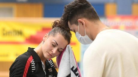 Florian Schreiner, der Sohn der früheren Langweiderin Yunli Schreiner, munterte seine FreundinVitalija Venckute in schwierigen Situationen immer wieder auf. Mit Erfolg!