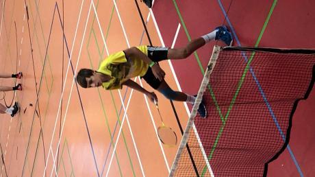 Maximilian Steimer war im Einzel, Doppel und Mixed am Start.