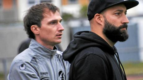 Cheftrainer Andi Spann (rechts) und sein Assistent Thomas Gold könnten ruhig zuversichtlicher aus der Wäsche schauen. Die SGM Aufheim/Holzschwang ist noch ungeschlagen.