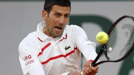 Novak Djokovic musste im Viertelfinale ordentlich kämpfen.