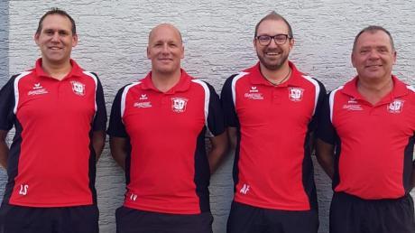 Die Macher beim TSV Balzhausen: (von links) Stephan Leitenmaier (1. Abteilungsleiter), Thomas Vogel (Trainer 1. Mannschaft), Andreas Forster (Trainer 2. Mannschaft) und Günter Hartmann (2. Abteilungsleiter).