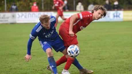 Der TSV Rain um Co-Trainer Johannes Müller (rotes Trikot) zeigte gegen die hoch gehandelte Viktoria aus Aschaffenburg ein tolle Leistung. Mehr als ein Abstiegstreffer und ein Pfostenschuss sprang jedoch nicht heraus, sodass die Gäste einen schmeichelhaften 1:0-Sieg einfahren konnten.