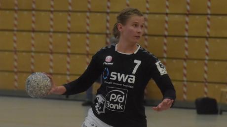Anja Niebert war eine der herausragenden Spielerinnen beim 26:24-Sieg des TSV Haunstetten in Herzogenaurach.