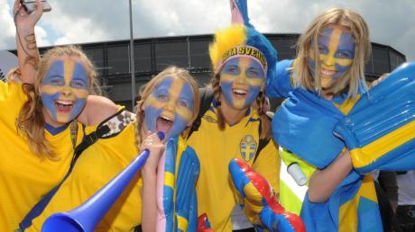 2011 fanden in Augsburg WM-Spiele statt, unter anderem mit Schweden und dessen Fans.