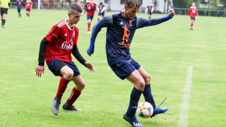 Tolle Aufholjagd: Florian Westermayer (links) und die U15 der SpVgg Joshofen-Bergheim kamen gegen FC Stätzling zu einem 2:2-Remis.