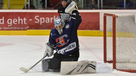 HCL-KeeperMichael Güßbacher zeigte in Garmisch eine sehr gute Leistung, konnte die knappe Niederlage seiner Mannschaft aber auch nicht verhindern.