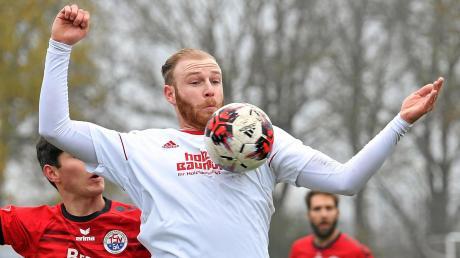 Die pure Urgewalt. Mit 1,90 Meter und 90 Kilo sorgt Markus Gärtner für Alarm in den gegnerischen Strafräumen. Künftig soller das für den TSV Meitingen tun.