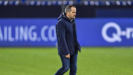 Auch Trainer Manuel Baum konnte die Negativserie beim FCSchalke 04 nicht stoppen.