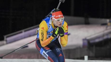 Biathletin Denise Herrmann lief in Finnland auf den zweiten Platz.