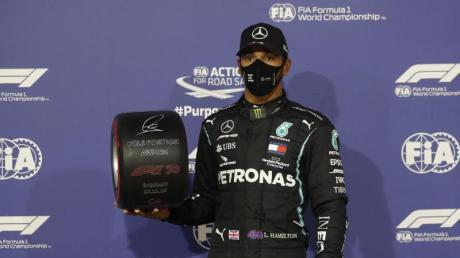 Lewis Hamilton sicherte siich bei der Qualifikation zum Großen Preis von Bahrain die Pole Position.