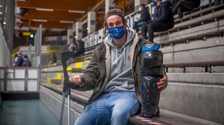 Florian Reicheneder kann den HC Landsberg momentan nur von der Tribüne aus unterstützen. Seine Verletzung ereignete sich sehr ungewöhnlich.
