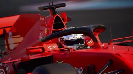 Sebastian Vettel schied im Ferrari in der Qualifikation vorzeitig aus.
