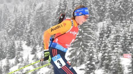 Franziska Preuß möchte beim Biathlon in Hochfilzen für einen Erfolg sorgen.
