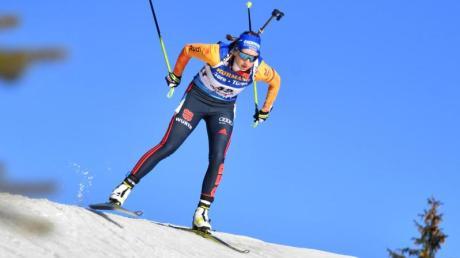 Sprintete in Hochfilzen auf Platz vier: Franziska Preuß. Alle Termine und den Zeitplan zum Biathlon-Weltcup finden Sie hier. Zudem alle Infos zur Übertragung live in TV und Stream.