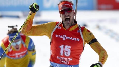 Siegte beim Massenstart in Hochfilzen: Arnd Peiffer.
