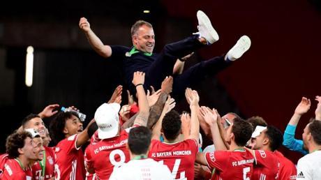 Trainer Hansi Flick hatte 2020 mit dem FC Bayern ein enorm erfolgreiches Jahr.