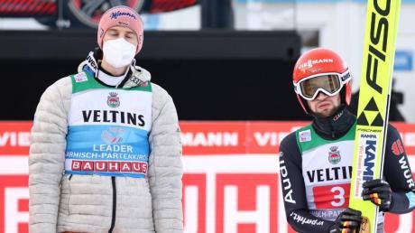 Keine Zeit für Regeneration: Karl Geiger (l) und Markus Eisenbichler.