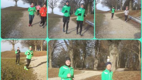 Die Bilder zeigen die verschiedenen Laufpaare beim alternativen Silvesterlauf des TSV Nördlingen. Sie starteten nach aktuellen Bestimmungen.