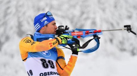 Simon Schempp kam in Oberhof im Sprint nur auf den 58. Rang.
