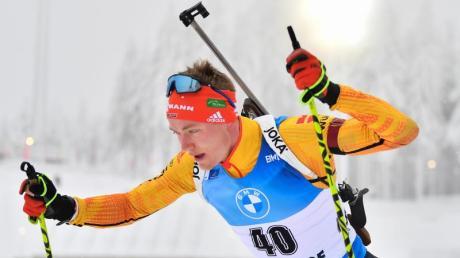 Benedikt Doll ist mit den deutschen Biathleten in Oberhof gefordert.
