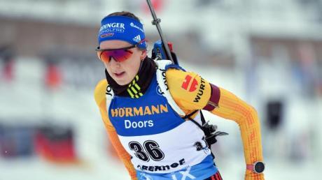 Wurde Sechste im Sprint: Franziska Preuß.